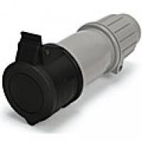 IP44/IEC309 PIN & SLEEVE CONNECTOR 20A  3 PHASE 600VAC  3 POLE 4 WIRE  SPLASHPROOF