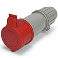 IP44/IEC309 PIN & SLEEVE CONNECTOR 20A  3 PHASE Y277/480VAC  4 POLE 5 WIRE  SPLASHPROOF