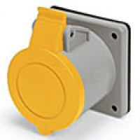IP44/IEC309 PIN & SLEEVE RECEPTACLE 20A  125VAC  2 POLE 3 WIRE  SPLASHPROOF