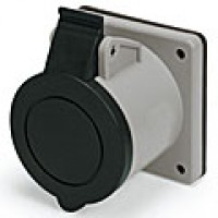 IP44/IEC309 PIN & SLEEVE RECEPTACLE 30A  3 PHASE 600VAC  3 POLE 4 WIRE  SPLASHPROOF