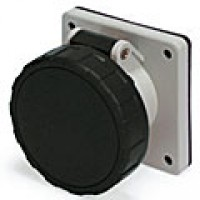 IP67/IEC309 PIN & SLEEVE RECEPTACLE 20A  3 PHASE 600VAC  3 POLE 4 WIRE  WATERTIGHT