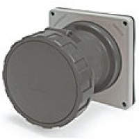 IP67/IEC309 PIN & SLEEVE RECEPTACLE 60A  277VAC  2 POLE 3 WIRE  WATERTIGHT