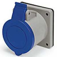 IP44/IEC309 PIN & SLEEVE RECEPTACLE 30A  3 PHASE 250VAC  3 POLE 4 WIRE  SPLASHPROOF
