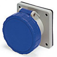 IP67/IEC309 PIN & SLEEVE RECEPTACLE 20A  3 PHASE 250VAC  3 POLE 4 WIRE  WATERTIGHT