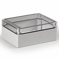 ENCLOSURE, TRANSPARENT COVER, UL, 6.89L (175MM) X 4.92W (125MM) X 2.95H (75MM)