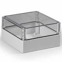 ENCLOSURE, TRANSPARENT COVER, UL, 6.89L (175MM) X 6.89W (175MM) X 3.94H (100MM)