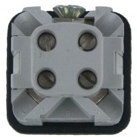 Back View 3 Pole Rectangular Connector Male Insert 10 Amp CKM03