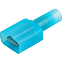 """Blue Nylon Fully Insulated Male Disconnect Crimp Terminal 1/4"""" (.250) tab"""