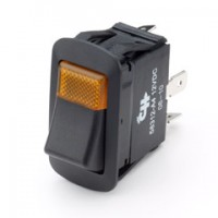 Cole Hersee 58312-A2 25Amp LED Rocker Amber Light Independent