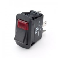 Cole Hersee 58312-R4 25Amp LED Rocker Red Light