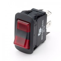 Cole Hersee 58312-RR 25Amp LED Rocker Red/Red Lights Dependent