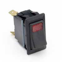 Cole Hersee 58328-01 Rocker Switch Red Pilot