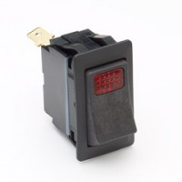 Cole Hersee 58328-04 Rocker Switch Red Pilot