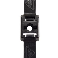 """13 Inch Dual Clamp Cable Ties with 1/4"""" Screw Mount"""
