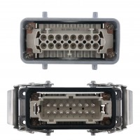 Rectangular Connector Complete Kit Double Lever 16 Pole 16 Amp