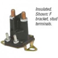 SPST, CONTINUOUS DUTY, 100A, 12V, INSULATED, TWO 10-32 STUDS, F BRACKET