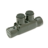 IISRB2 BLACK INSULATED SPLICER REDUCER #2 TO #14 AWG