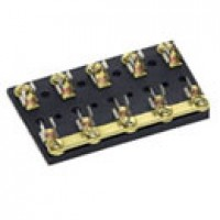FOR GLASS FUSES & 30410 BREAKERS, COMMON HOT FEED, BRASS, 5-GANG