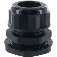 "Nylon Dome Cap Cable Gland 1-1/4"" NPT Black"
