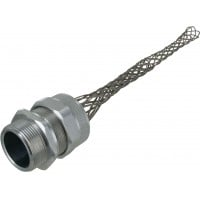 """Aluminum Cord Grip 1-1/2"""" 1.12-1.25"""" With Mesh RSR-520-E Angle"""