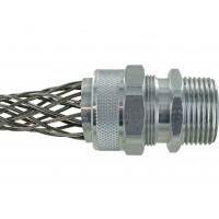 "Aluminum Cord Grip 1"" 1.125-1.25"" With Mesh RSR-3520-E"