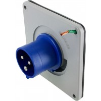 316B6S Pin And Sleeve Inlet 16 Amp 2 Pole 3 Wire