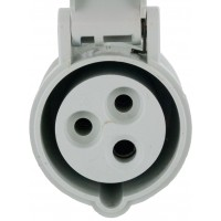 320C5S Pin And Sleeve Connector 20 Amp 2 Pole 3 Wire Front