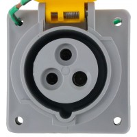 320R4W Pin And Sleeve Receptacle 20 Amp 2 Pole 3 Wire Front