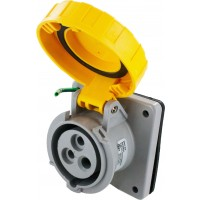 320R4W Pin And Sleeve Receptacle 20 Amp 2 Pole 3 Wire Open