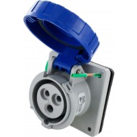 320R6W Pin And Sleeve Receptacle 20 Amp 2 Pole 3 Wire Open