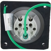 320R6W Pin And Sleeve Receptacle 20 Amp 2 Pole 3 Wire Rear