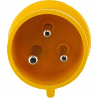 330P4S Pin And Sleeve Plug 30 Amp 2 Pole 3 Wire Front