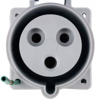 330R6S Pin And Sleeve Receptacle 30 Amp 2 Pole 3 Wire Front
