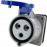 330R6S Pin And Sleeve Receptacle 30 Amp 2 Pole 3 Wire Open