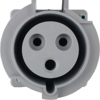 330R6W Pin And Sleeve Receptacle 30 Amp 2 Pole 3 Wire Front