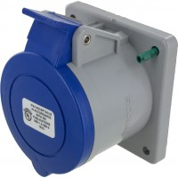 332R6S Pin And Sleeve Receptacle 32 Amp 2 Pole 3 Wire