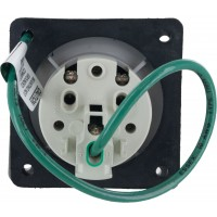 332R6S Pin And Sleeve Receptacle 32 Amp 2 Pole 3 Wire Rear