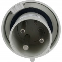 360P5W Pin And Sleeve Plug 60 Amp 2 Pole 3 Wire Front
