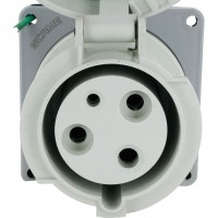 360R5W Pin And Sleeve Receptacle 60 Amp 2 Pole 3 Wire Front