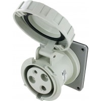 360R5W Pin And Sleeve Receptacle 60 Amp 2 Pole 3 Wire Open