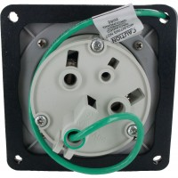 360R5W Pin And Sleeve Receptacle 60 Amp 2 Pole 3 Wire Rear