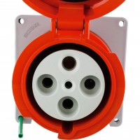 4100R12W Pin And Sleeve Receptacle 100 Amp 3 Pole 4 Wire Front
