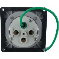 4100R12W Pin And Sleeve Receptacle 100 Amp 3 Pole 4 Wire Rear
