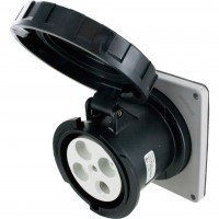 4100R5W Pin And Sleeve Receptacle 100 Amp 3 Pole 4 Wire Open