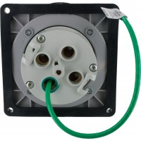 4100R5W Pin And Sleeve Receptacle 100 Amp 3 Pole 4 Wire Rear