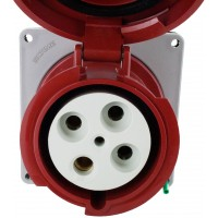 4100R7W Pin And Sleeve Receptacle 100 Amp 3 Pole 4 Wire Front