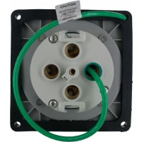 4100R9W Pin And Sleeve Receptacle 100 Amp 3 Pole 4 Wire Rear
