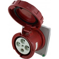 4125R6W Pin And Sleeve Receptacle 125 Amp 3 Pole 4 Wire Open