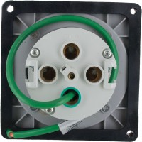 4125R6W Pin And Sleeve Receptacle 125 Amp 3 Pole 4 Wire Rear