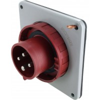 416B6W Pin And Sleeve Inlet 16 Amp 3 Pole 4 Wire